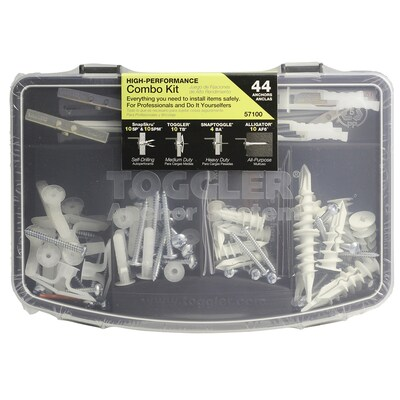TOGGLER 44-Piece Plastic White Anchors Fastener Kit (Case