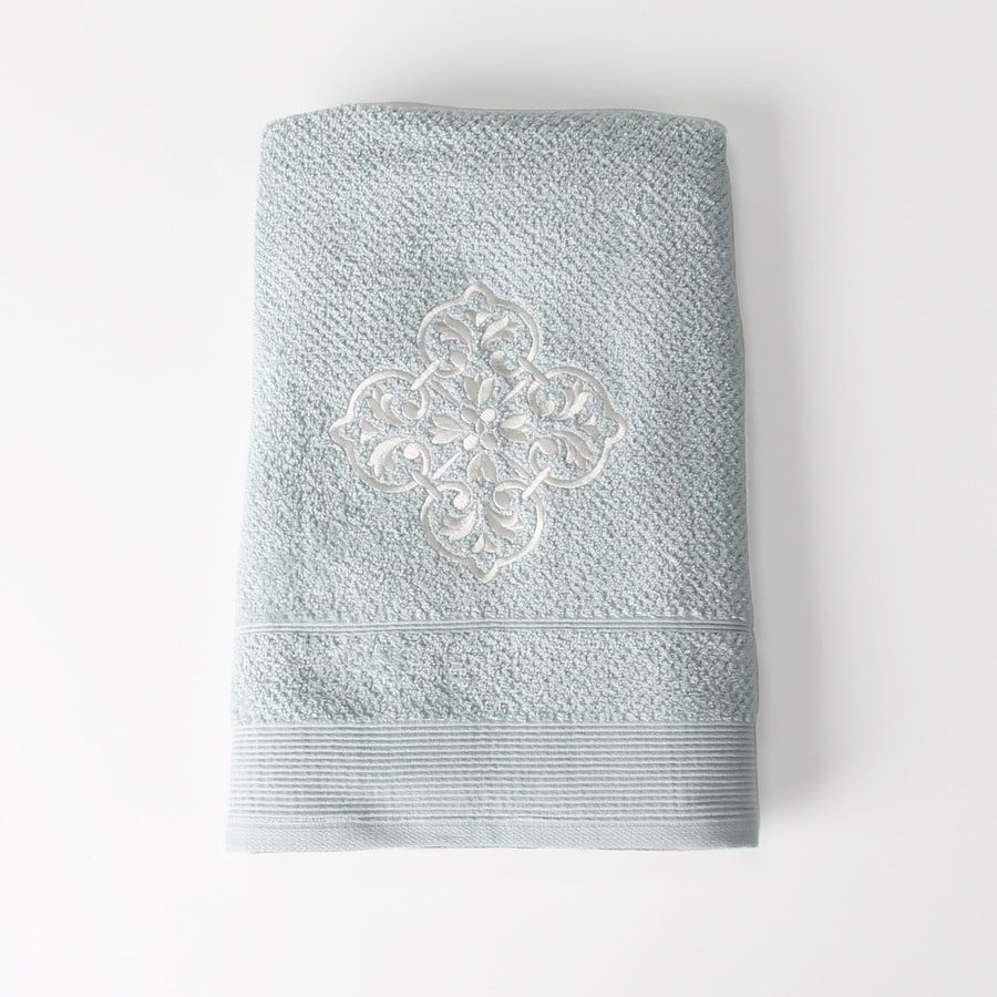 Saturday Knight Limited Modena 24-in x 48-in Light Blue Cotton Bath Towel