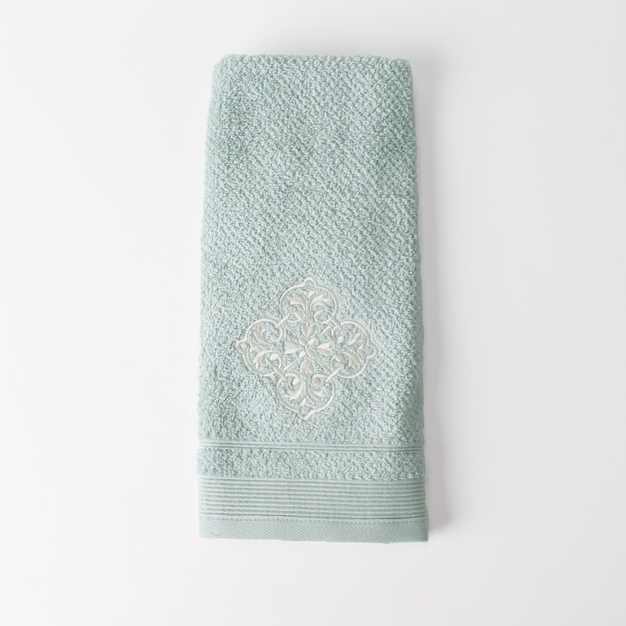 Saturday Knight Limited Modena 16-in x 25-in Light Blue Cotton Hand Towel
