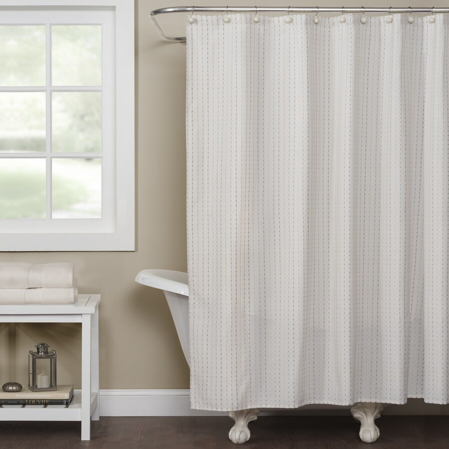 saturday knight limited hopscotch polyester off white patterned shower curtain at. Black Bedroom Furniture Sets. Home Design Ideas