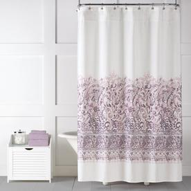 Saturday Knight Limited Elegance Polyester Purple Patterned Shower Curtain