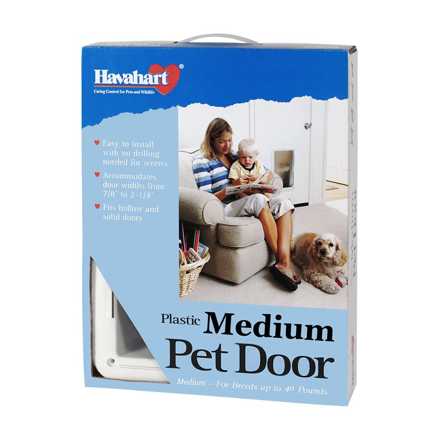 Havahart Medium White Plastic Pet Door (Actual: 12-in x 8.5-in)