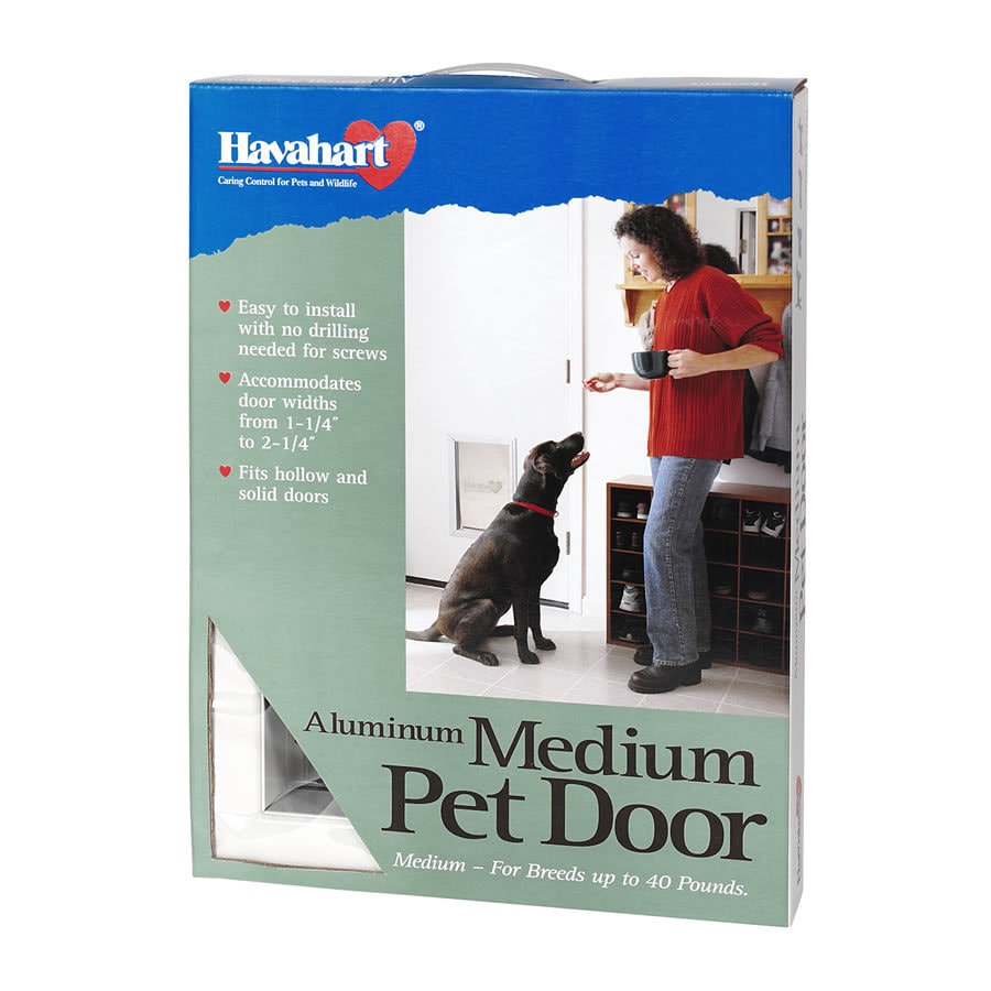 Havahart Medium White Aluminum Pet Door (Actual: 13-in x 8-in)