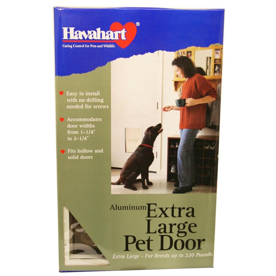 Havahart X-Large White Aluminum Pet Door (Actual: 25-in x 14.5-in)