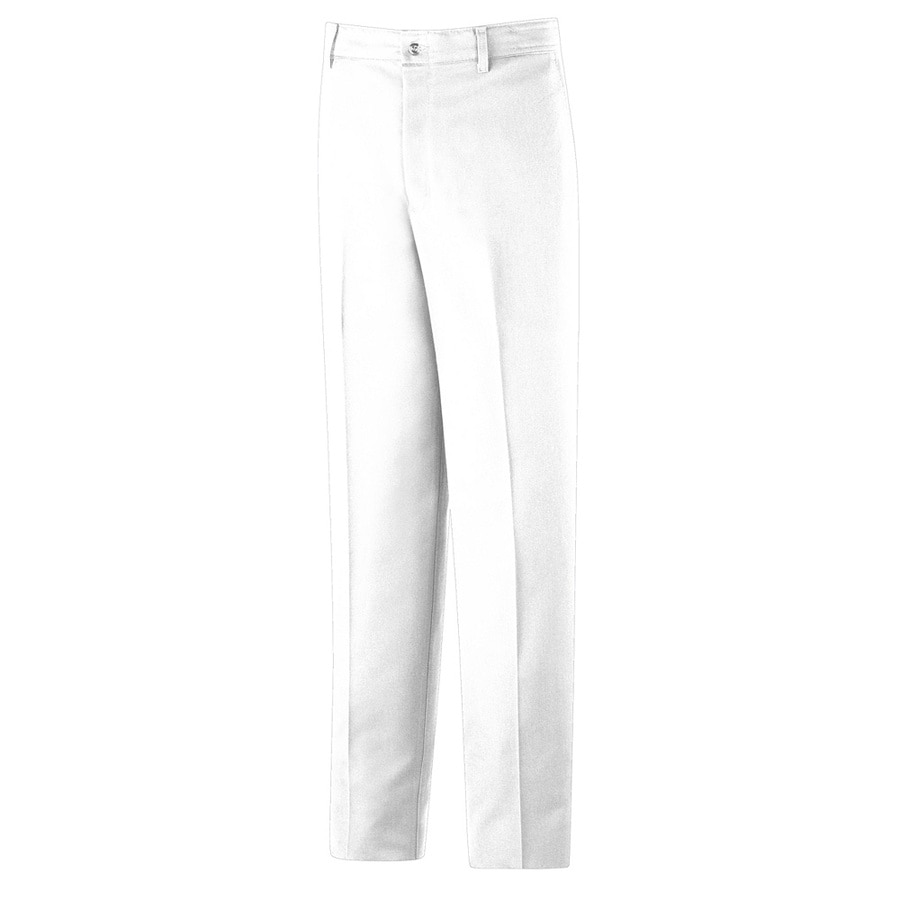 Red Kap Men's 34x32 White Twill Work Pants