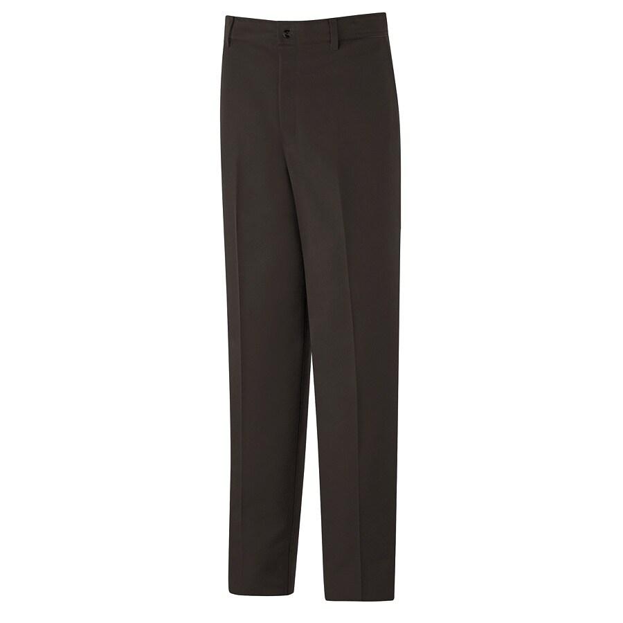 Red Kap Men's 52 x 32 Brown Twill Work Pants