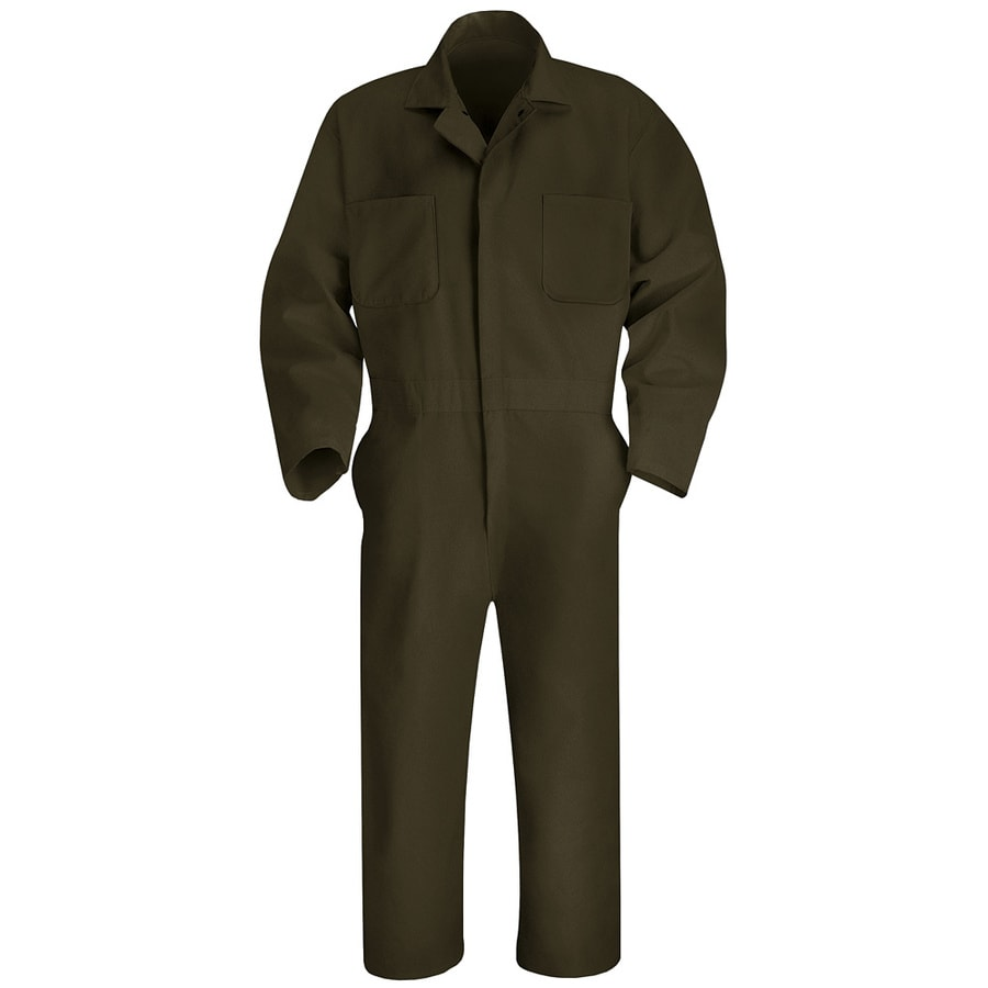 Red Kap 44 Men's Brown Long Sleeve Coveralls