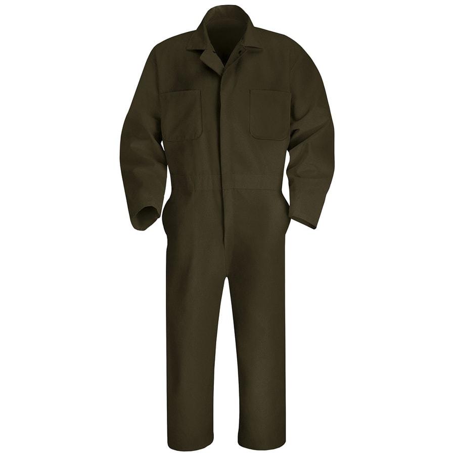 Red Kap 54 Men's Brown Long Sleeve Coveralls