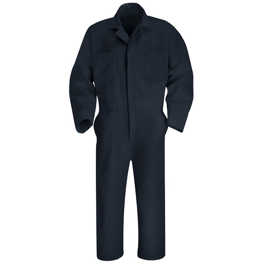 Red Kap 52 Men's Navy Long Sleeve Coveralls