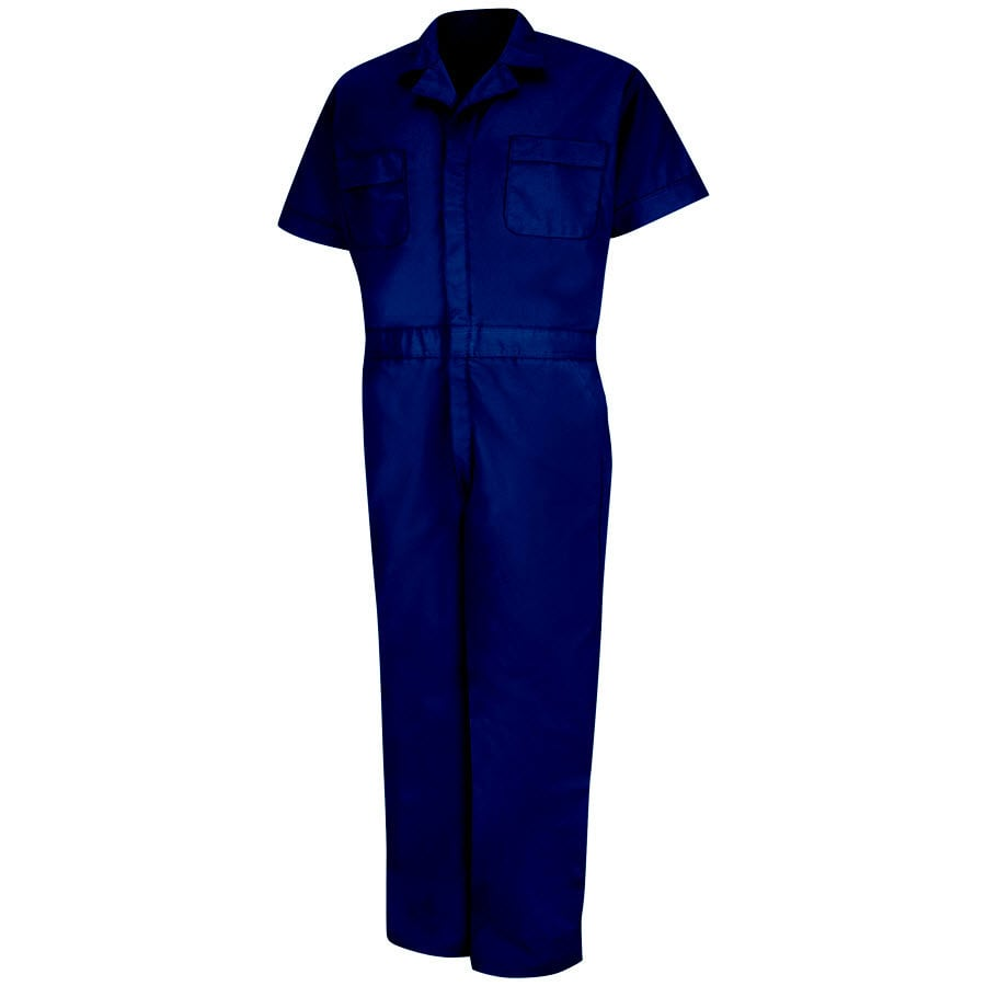 Red Kap Medium Men's Navy Long Coveralls