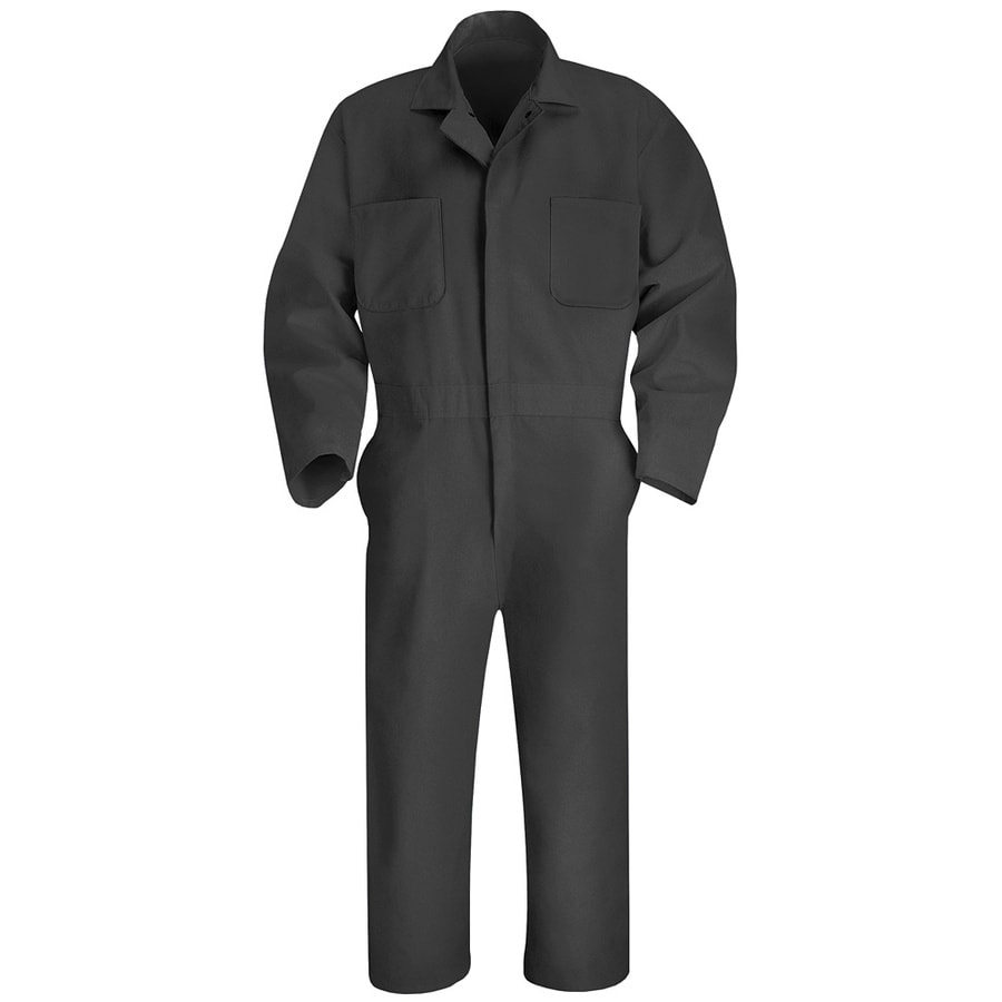 Red Kap 38 Men's Charcoal Long Sleeve Coveralls
