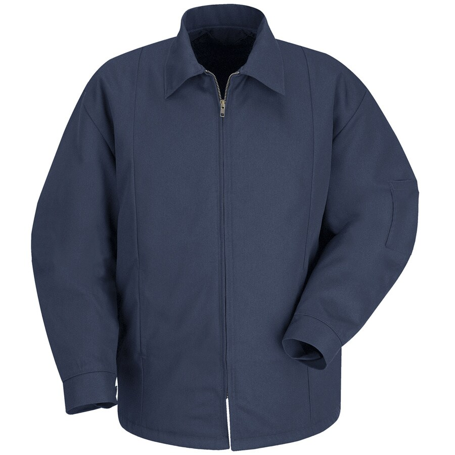 Red Kap XL-Long Unisex Navy Twill Panel Jacket