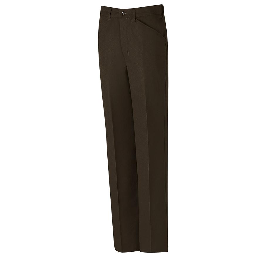 Red Kap Men's 30x34 Chocolate Brown Twill Work Pants