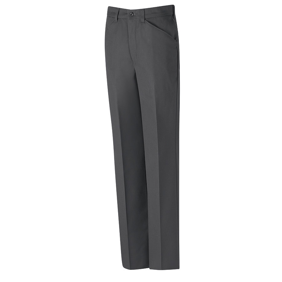 Red Kap Men's 34 x 32 Charcoal Twill Work Pants