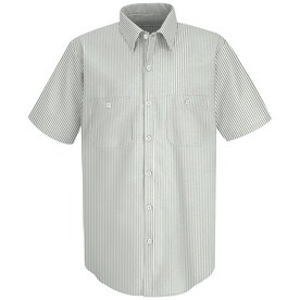 Mens Short Sleeve Industrial Stripe Work Shirt