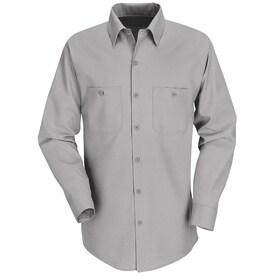 Shop Red Kap Men's 3XL-Long Light Grey Poplin Polyester Blend Long ...