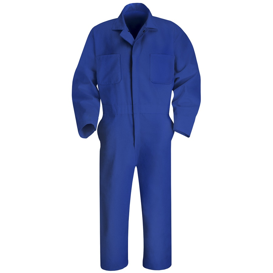 Red Kap 38 Men's Electric Blue Long Sleeve Coveralls
