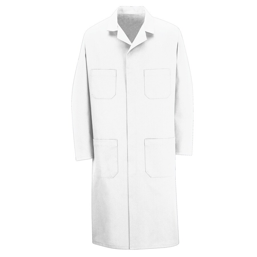Red Kap 52 Unisex White Twill Shop Coat