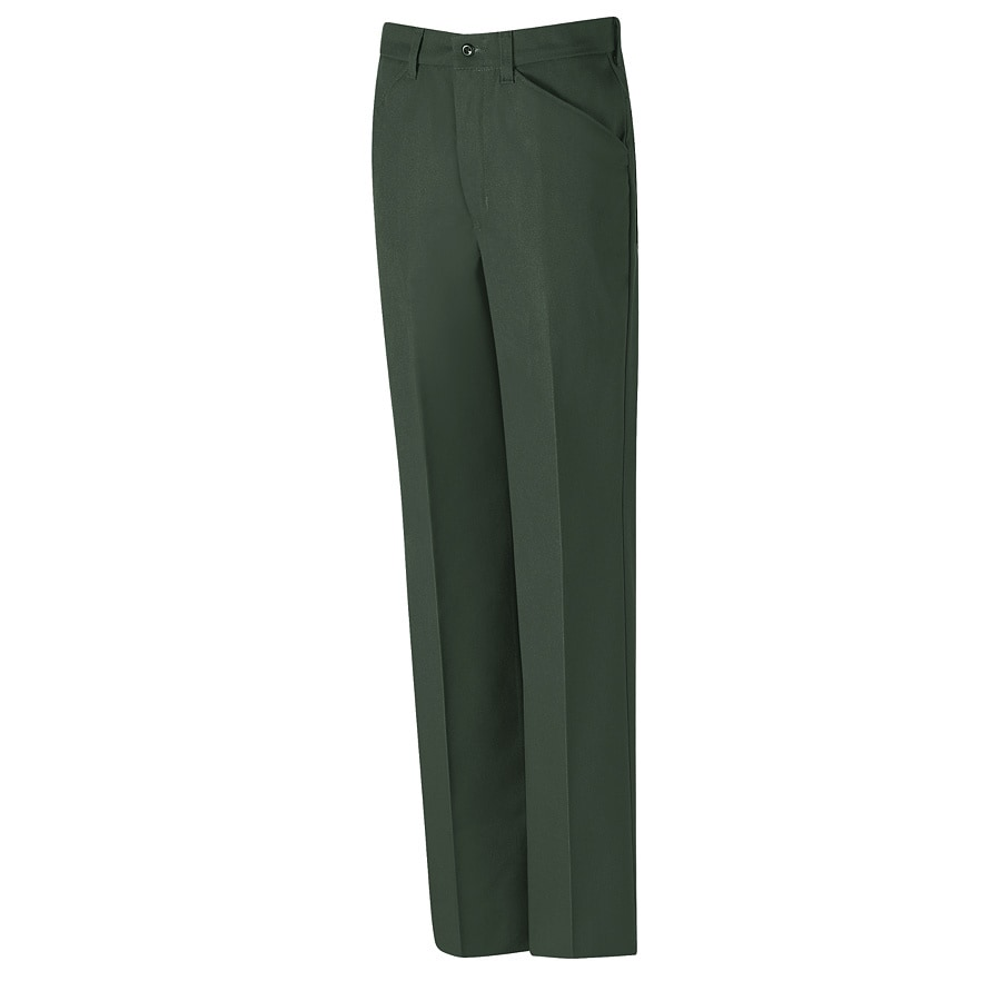Red Kap Men's 34 x 32 Spruce Green Twill Work Pants