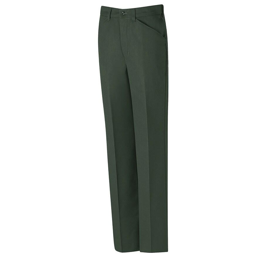 Red Kap Men's 36 x 32 Spruce Green Twill Work Pants