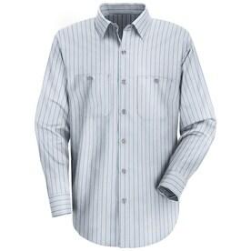 Mens Long Sleeve Industrial Stripe Work Shirt