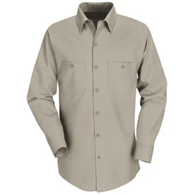 Red Kap Mens Long Sleeve Industrial Work Shirt