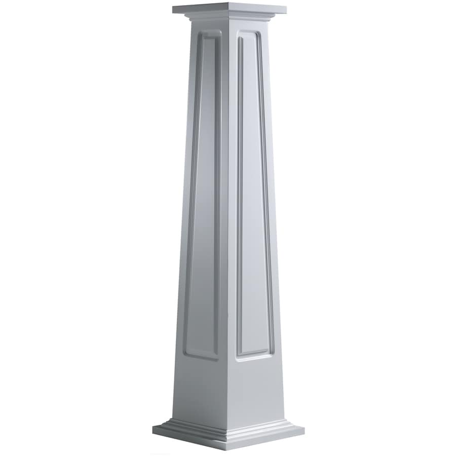 Turncraft Craftsman 59.5-in L x 4.958-ft H Unfinished PVC Column Wrap