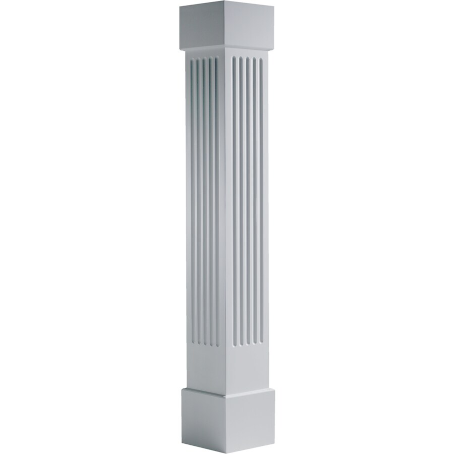 Turncraft Craftsman 7.625-in L x 95.5-ft H Unfinished PVC Fluted Column Wrap