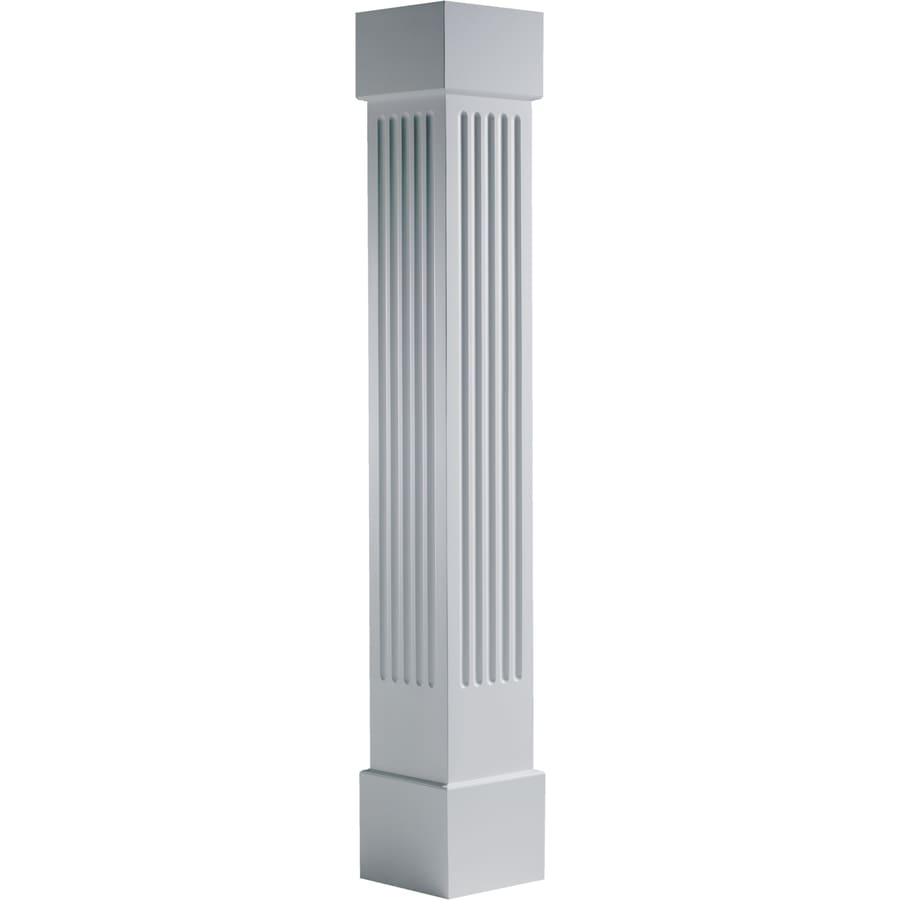 Turncraft Craftsman 7.625-in L x 111.5-ft H Unfinished PVC Fluted Column Wrap