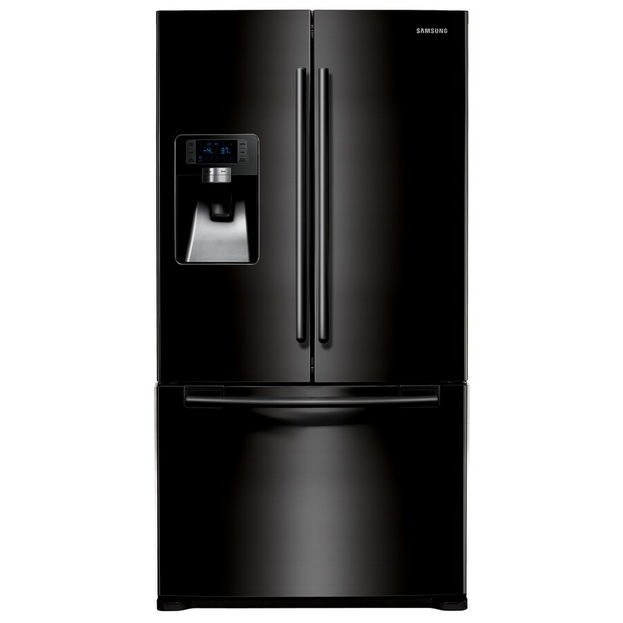 Samsung 23-cu ft French Door Counter-Depth Refrigerator with Single Ice Maker (Black) ENERGY STAR