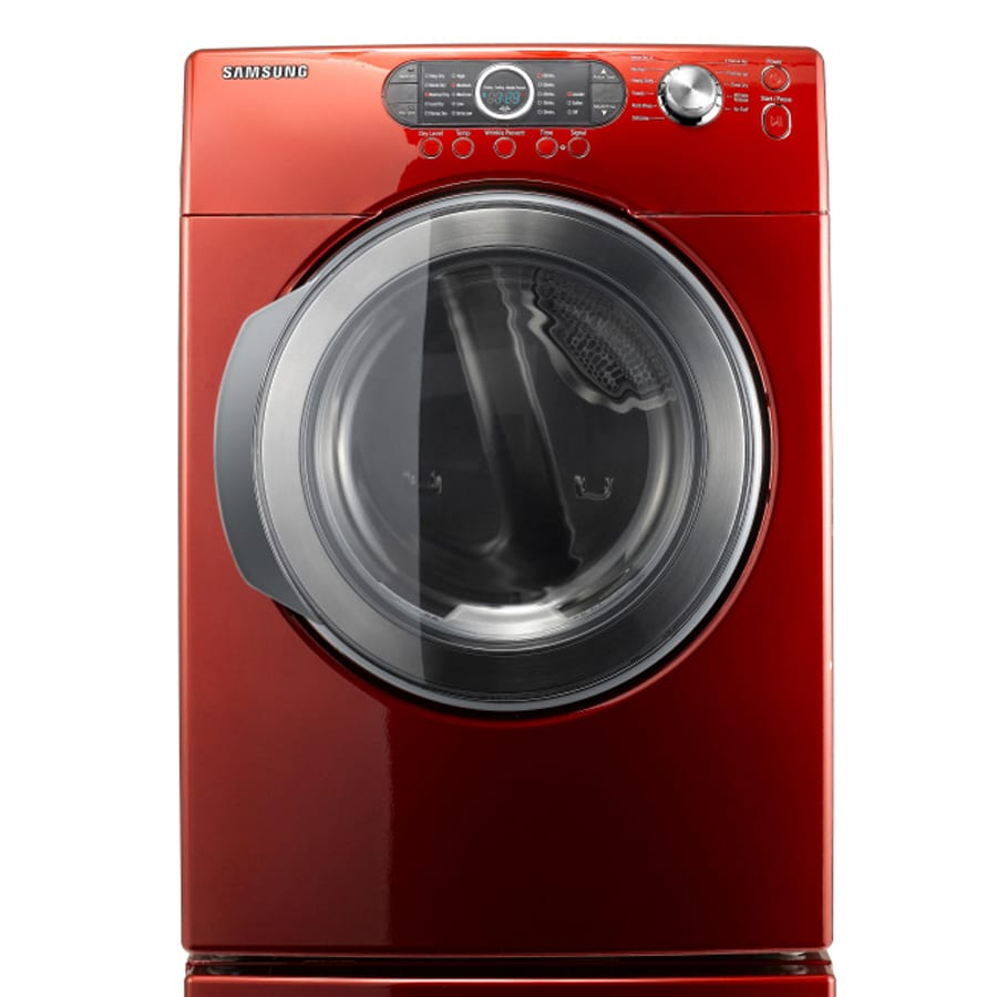 ft front load electric dryer color tango red