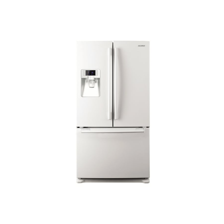 Samsung 25.7-cu ft French Door Refrigerator with Dual Ice Maker (White) ENERGY STAR