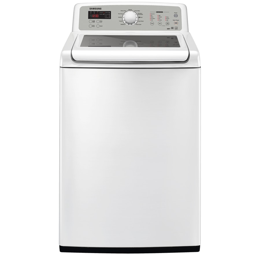 Samsung 4.7-cu ft High-Efficiency Top-Load Washer (White)