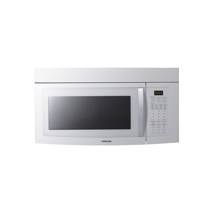 Samsung 1.7-cu ft Over-The-Range Microwave with Sensor Cooking Controls (White) (Common: 30-in; Actual: 29.9-in)