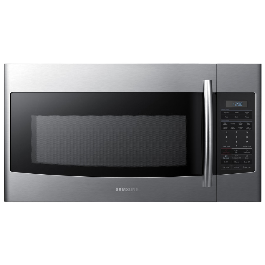 Samsung 1.8-cu ft Over-the-Range Microwave with Sensor Cooking Controls (Stainless Steel) (Common: 30-in; Actual: 29.9-in)