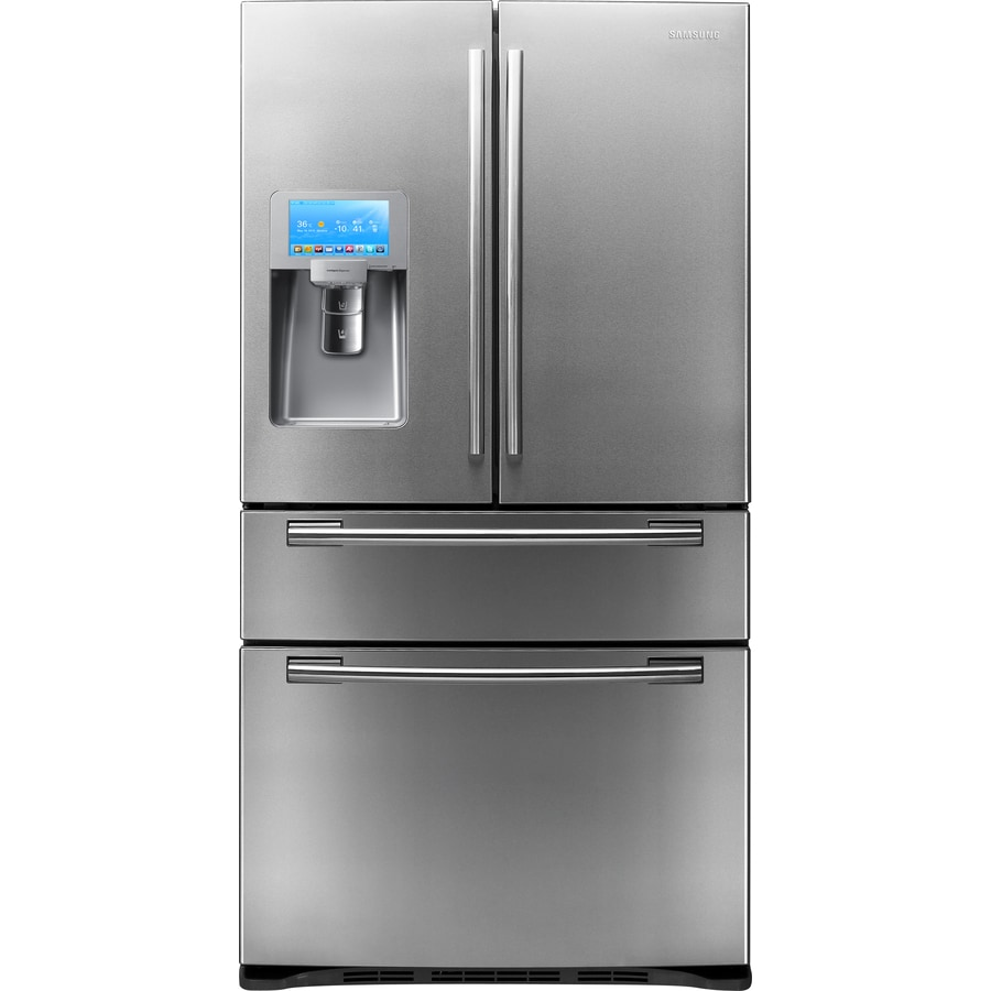 Shop Samsung 28 Cu Ft 4 Door French Door Refrigerator With Ice Maker