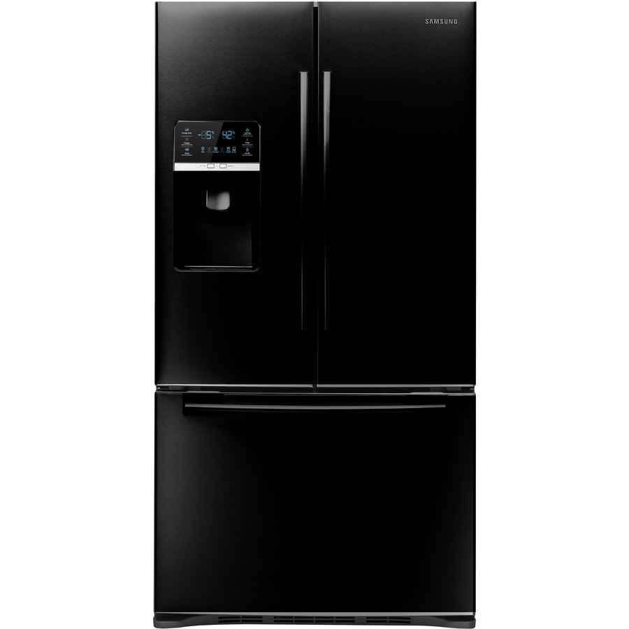 Samsung 28.5-cu ft French Door Refrigerator with Ice Maker (Black) ENERGY STAR