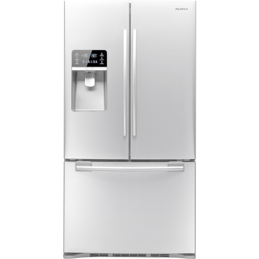 white refrigerator. samsung 28.5-cu ft french door refrigerator with ice maker (white) energy star white