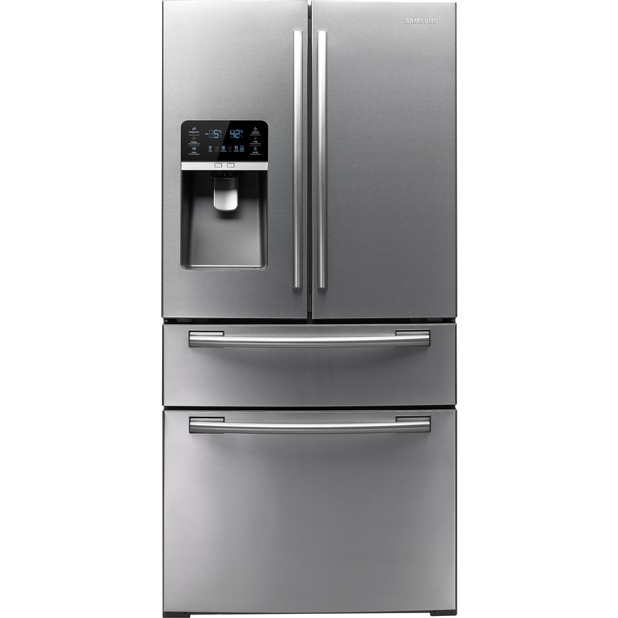 Samsung 25.5-cu ft 4-Door French Door Refrigerator with Ice Maker (Stainless Steel) ENERGY STAR