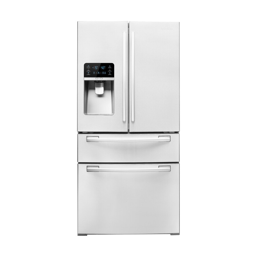 Shop Samsung 26 Cu Ft French Door Refrigerator With Ice Maker White