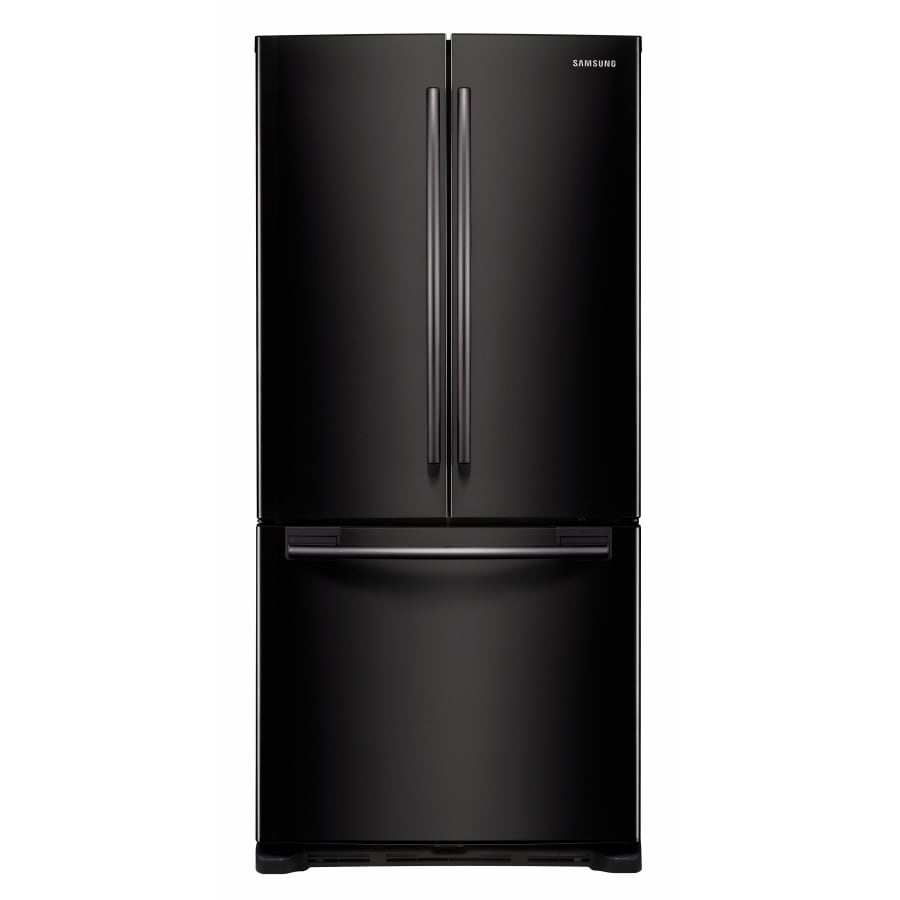 Samsung 19.7-cu ft French Door Refrigerator with Single Ice Maker (Black) ENERGY STAR