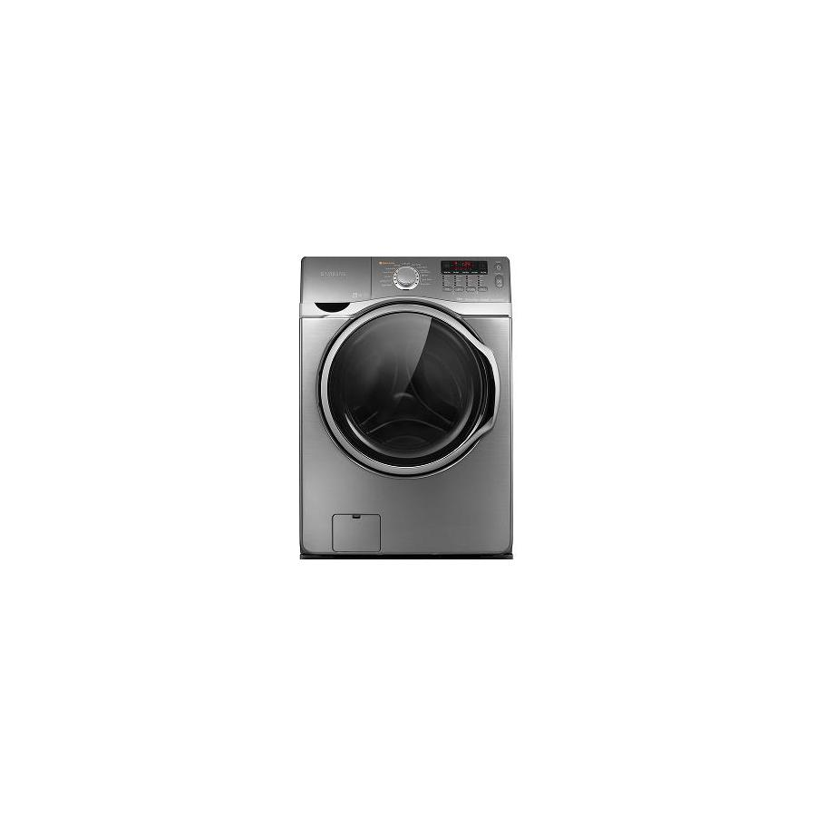 Samsung 3.9-cu ft High-Efficiency Stackable Front-Load Washer with Steam Cycle (Platinum)
