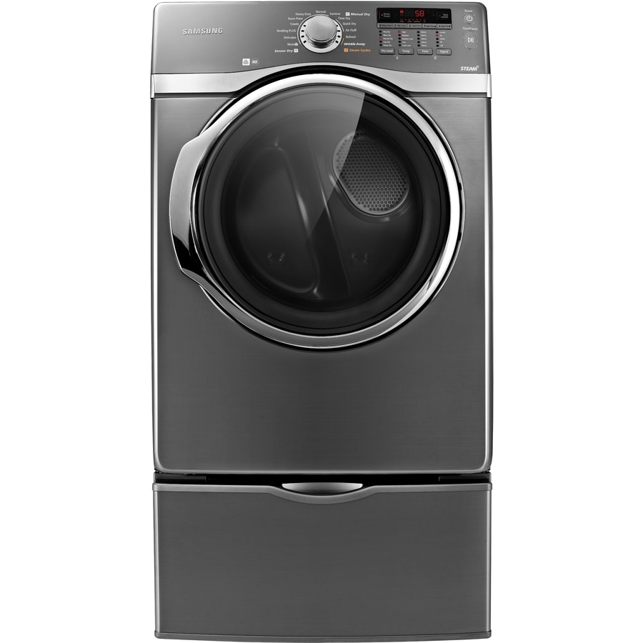 Samsung 7.4-cu ft Stackable Gas Dryer with Steam Cycle (Platinum)