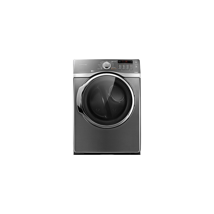 Samsung 7.4-cu ft Stackable Electric Dryer with Steam Cycle (Platinum)