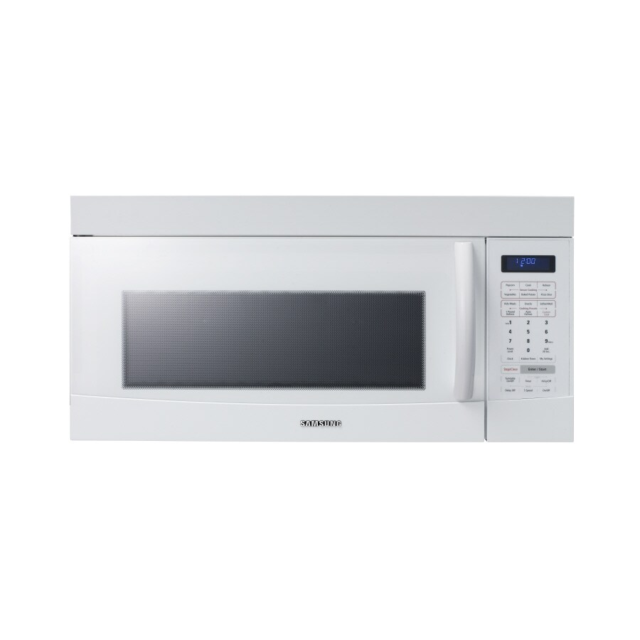 Lowes microwaves over the range white - Samsung 1 8 Cu Ft Over The Range Microwave White