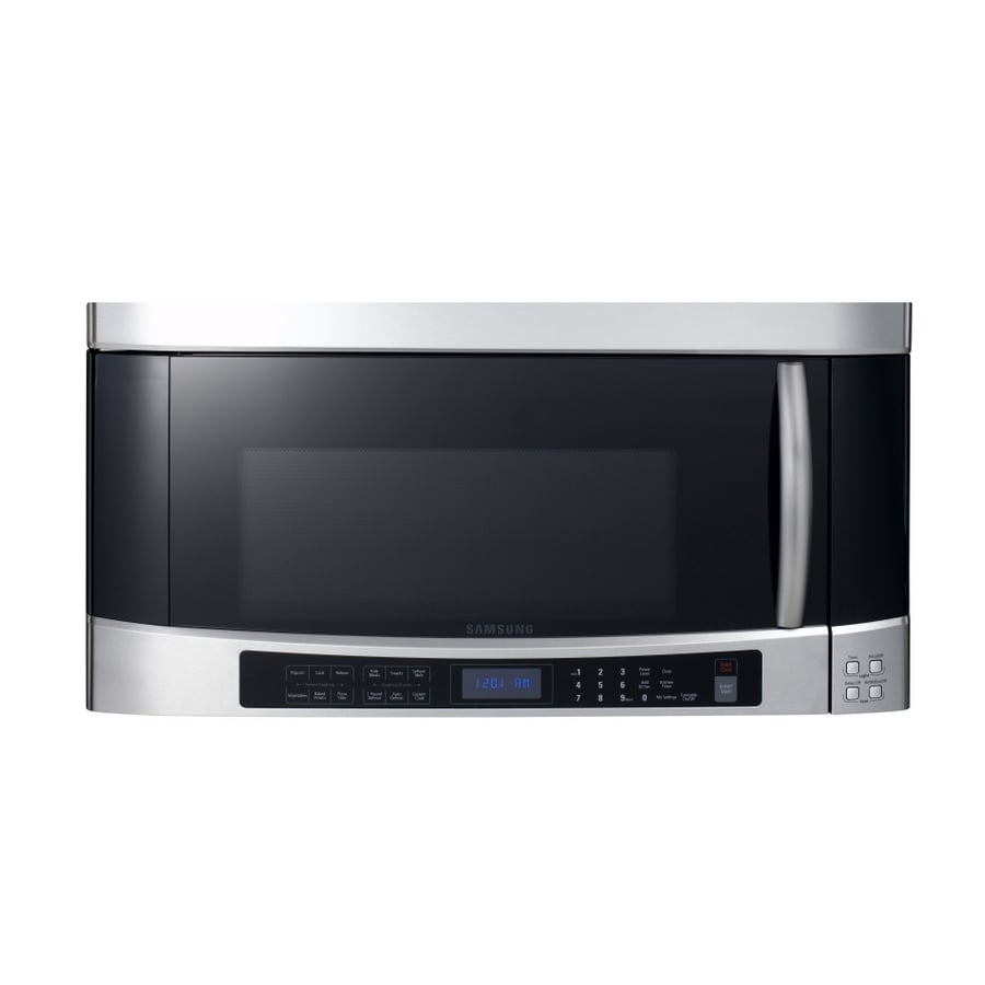 Samsung 2 Cu Ft Over The Range Microwave With Sensor Cooking Controls