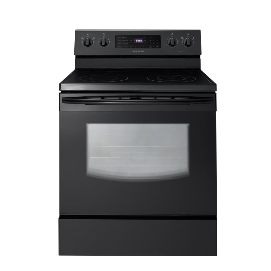 Samsung Smooth Surface Freestanding 5.9-cu ft Self-Cleaning Electric Range (Black) (Common: 30-in; Actual: 29.9062-in)