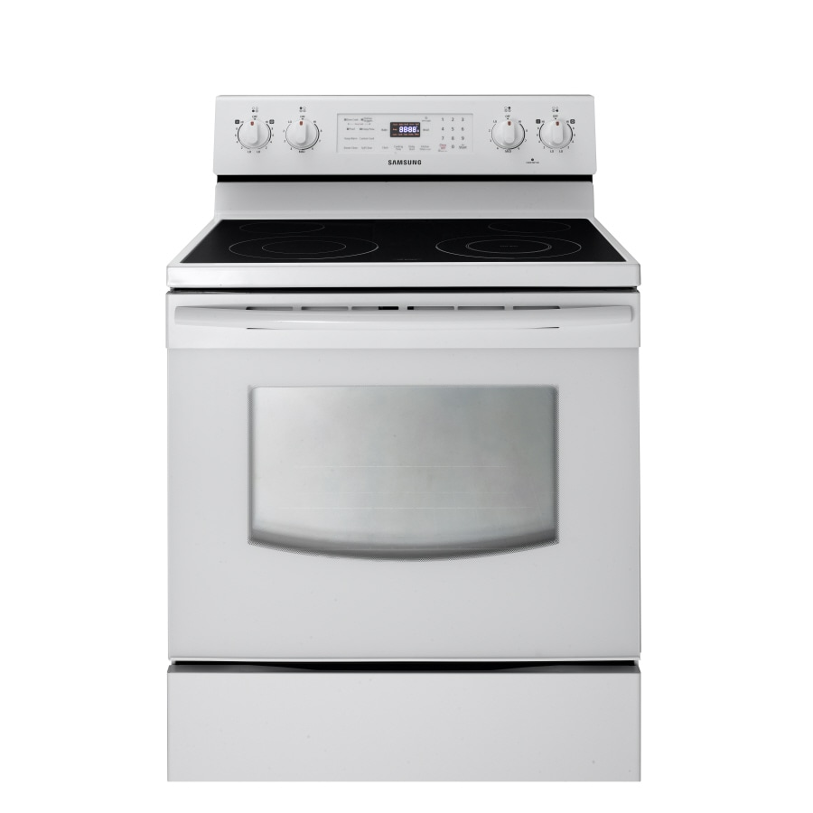 Samsung Smooth Surface Freestanding 5.9-cu ft Self-Cleaning Electric Range (White) (Common: 30-in; Actual: 29.9062-in)