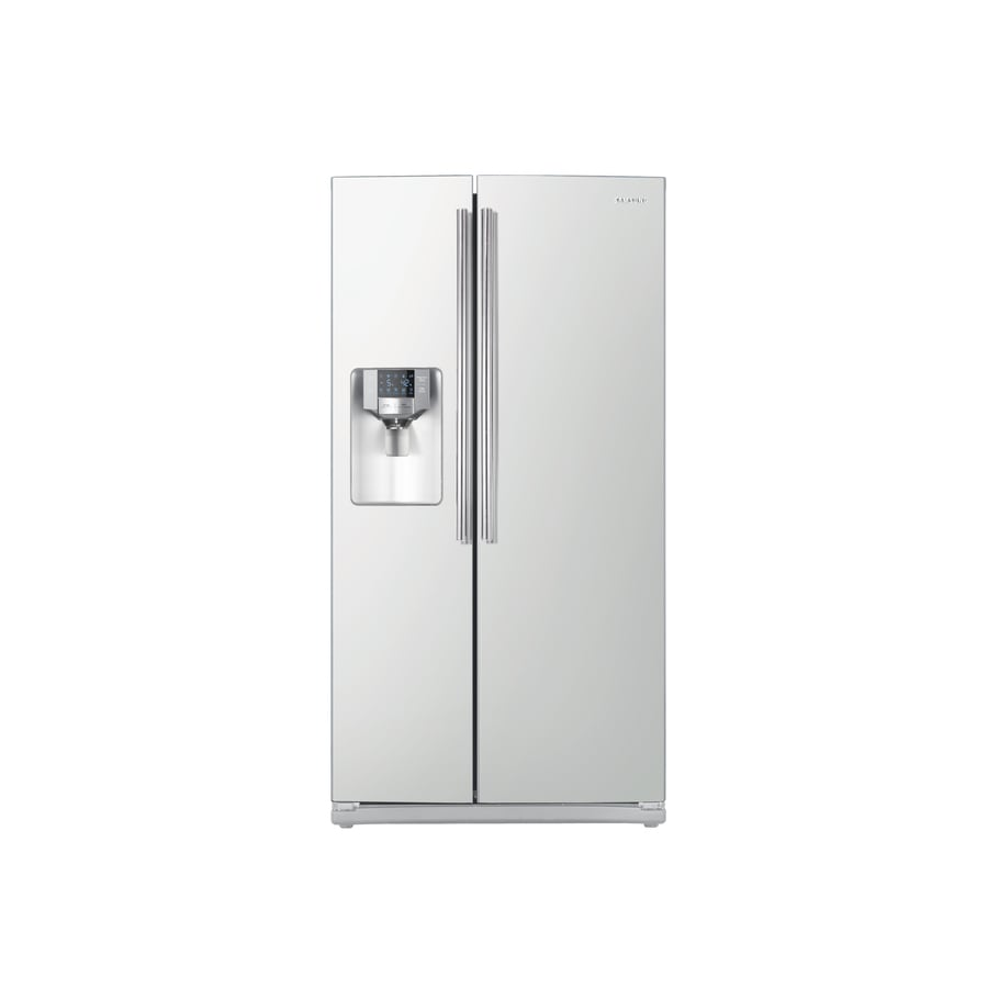 Samsung 25.5-cu ft Side-by-Side Refrigerator with Ice Maker (White) ENERGY STAR