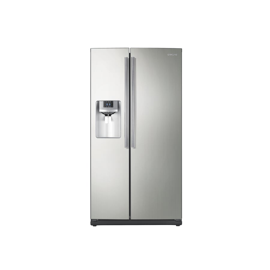 Samsung 25.5-cu ft Side-by-Side Refrigerator with Single Ice Maker (Platinum) ENERGY STAR